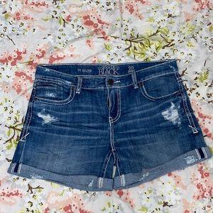 Buckle Jean Shorts